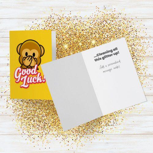 Good luck glitter bomb gold