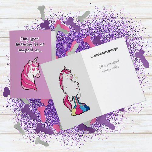 Unicorn Poop Card Penis